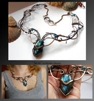 Keva- wire wrapped copper necklace by mea00