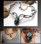 Keva- wire wrapped copper necklace