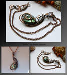 Ishild- wire wrapped copper necklace