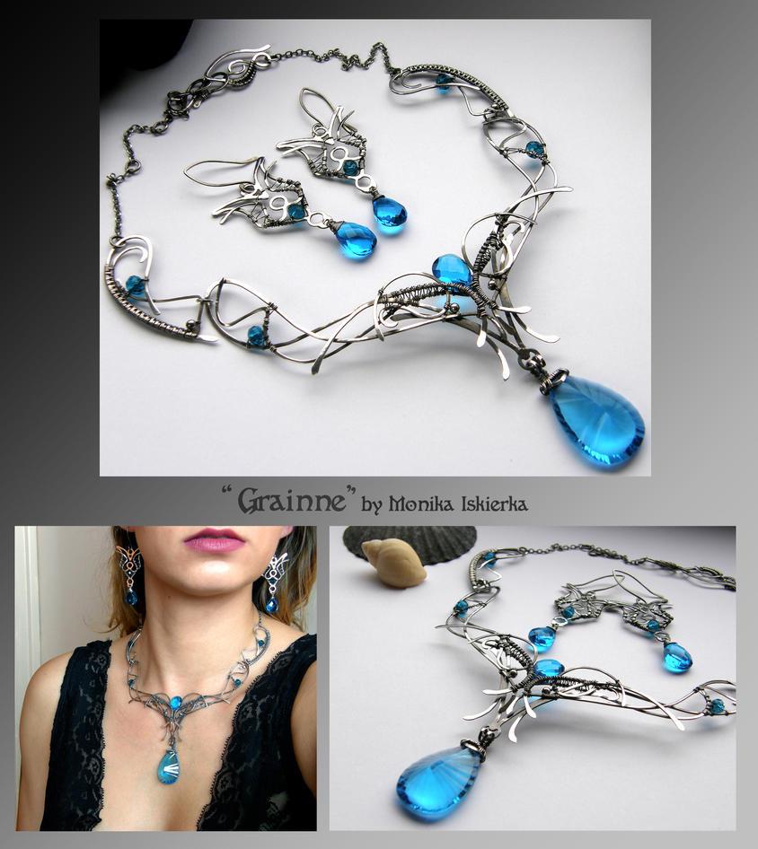Grainne- silver wire wrapped jewelry set by mea00 on DeviantArt