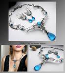 Grainne- silver wire wrapped jewelry set