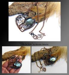 Danelea- wire wrapped copper necklace by mea00