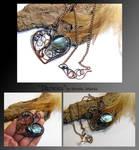 Danelea- wire wrapped copper necklace