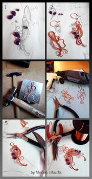 Step by step wire wrapping earrings