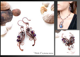 Neala II- wire wrapped copper earrings by mea00