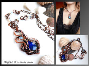 Meghan II- wire wrapped copper necklace