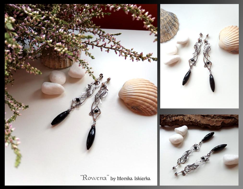 Rowena- wire wrapped silver earrings by mea00