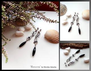 Rowena- wire wrapped silver earrings