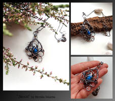 Saraid- wire wrapped silver necklace