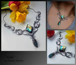 Ione-wire wrapped silver necklace