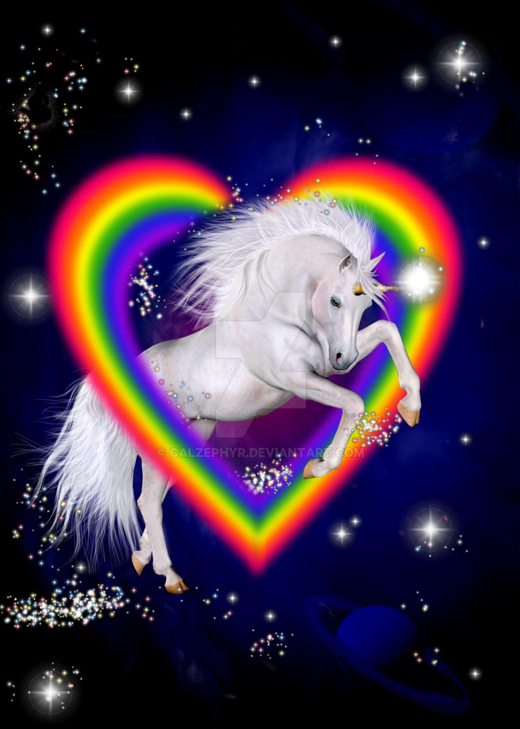 80s Rainbow Unicorn! by calzephyr on DeviantArt