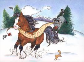 Dashing through the Snow 2 by calzephyr