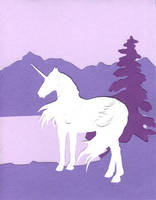 White Unicorn Card by calzephyr