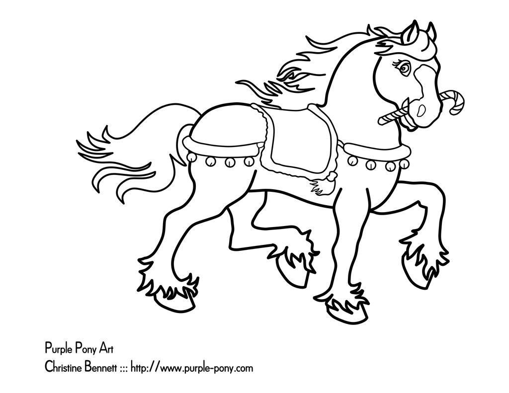 holiday horse coloring pages - photo#31