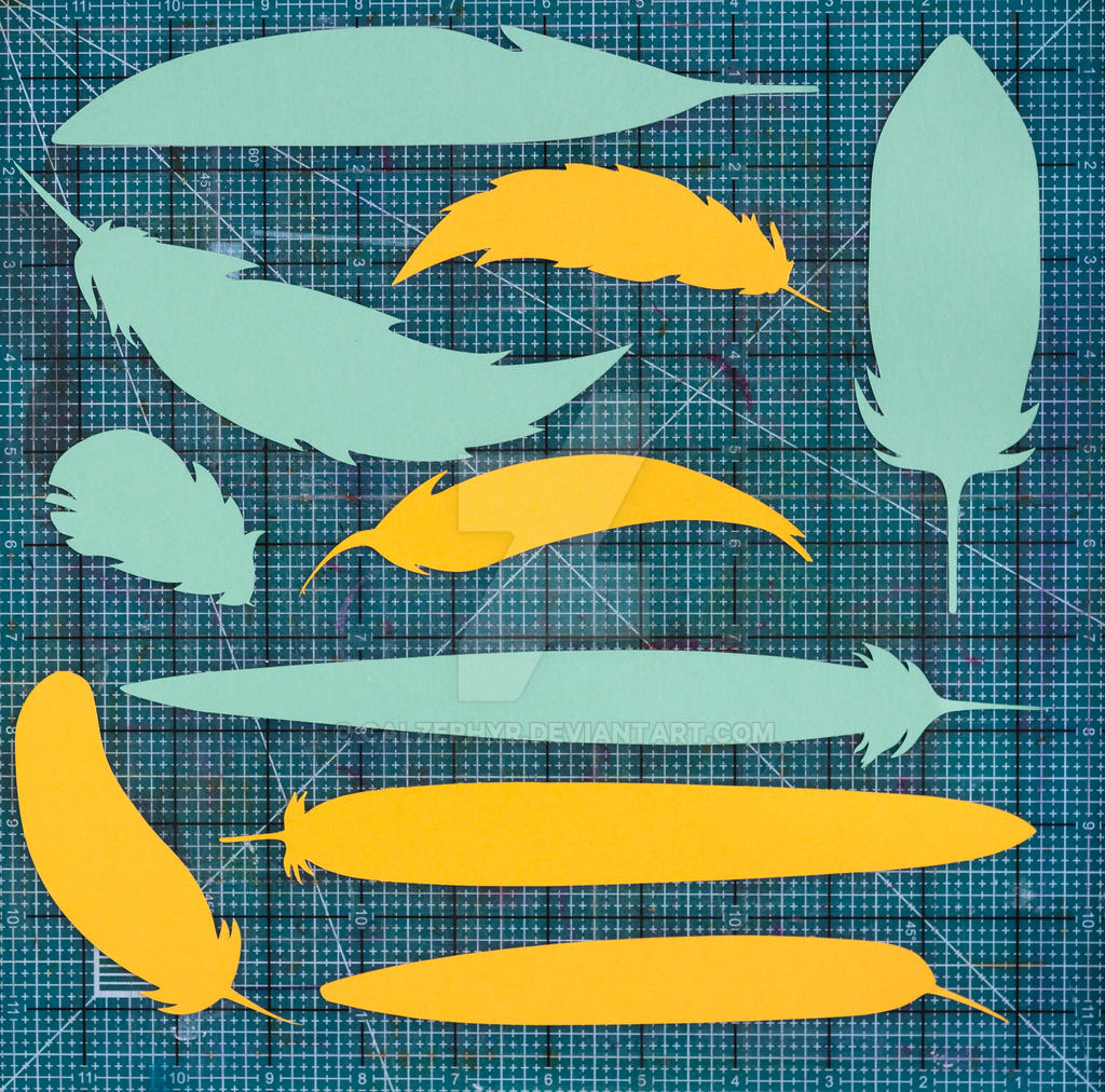 Bird Feathers SVG Cuttable File by calzephyr