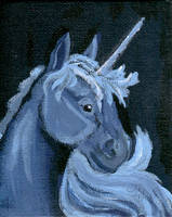 Blue Unicorn by calzephyr