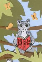 Reading Lemur by calzephyr