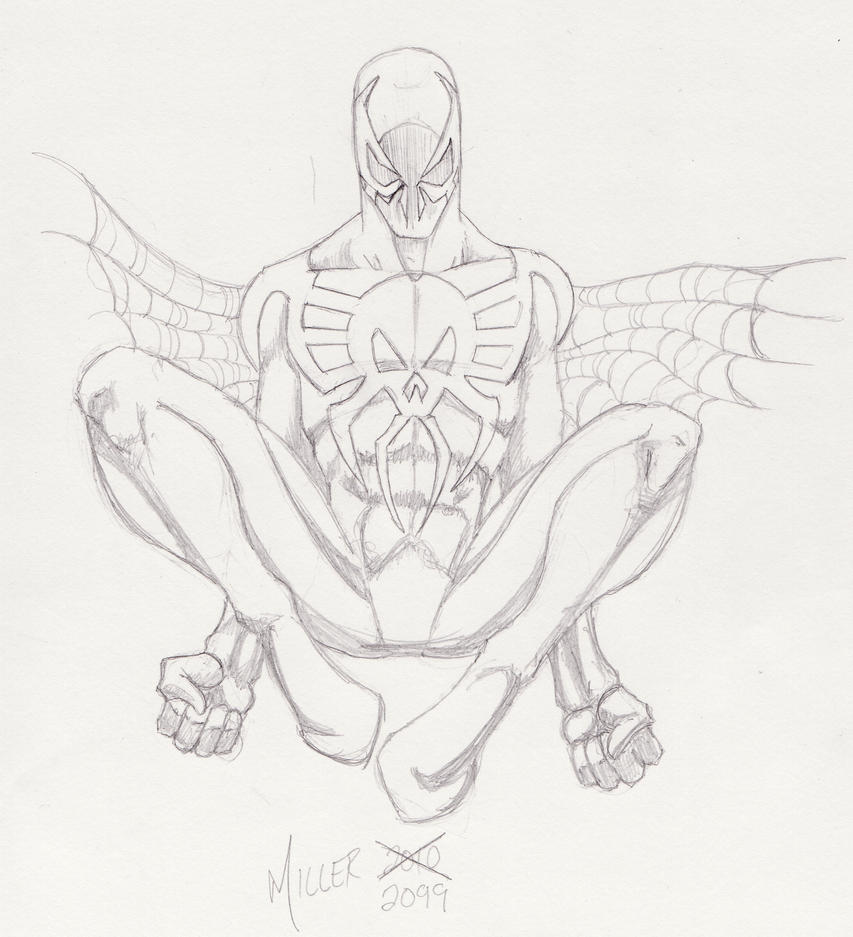 spider man 2099 coloring pages spider man 2099 by lordmylar06 on deviantart