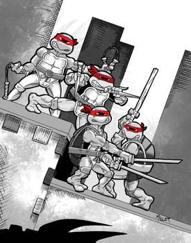 TMNT Mirage Color Action Figures