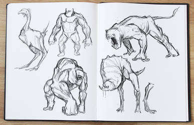 Creature Sketches by Lukartoons