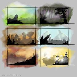 Landscape Thumbnails by Lukartoons