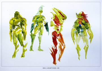 Watercolor Riot II by Lukartoons