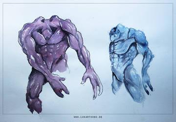 Watercolor Riot III by Lukartoons