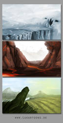 Landscape Concepts by Lukartoons