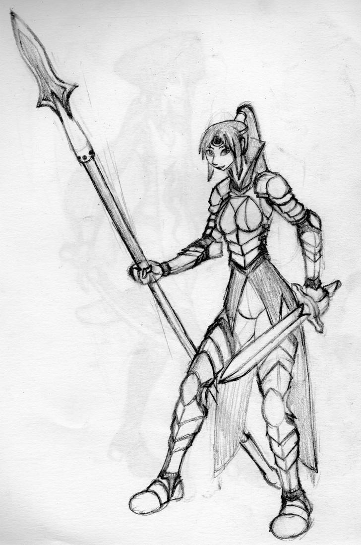 Spear female warrior by kkr682