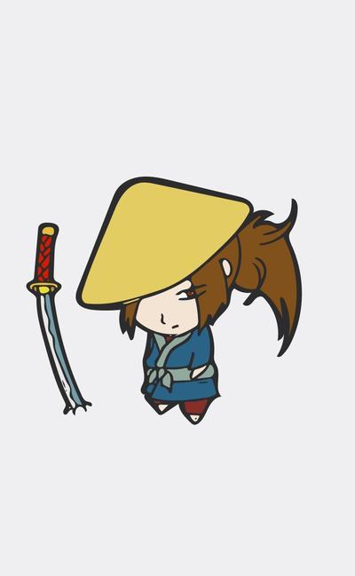 Lone samurai by Jordangatlin