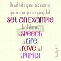1 Timothy 4:12 Inspirational Typography 51334195