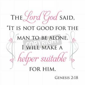 Genesis 2:18 Inspirational Scripture 50638023