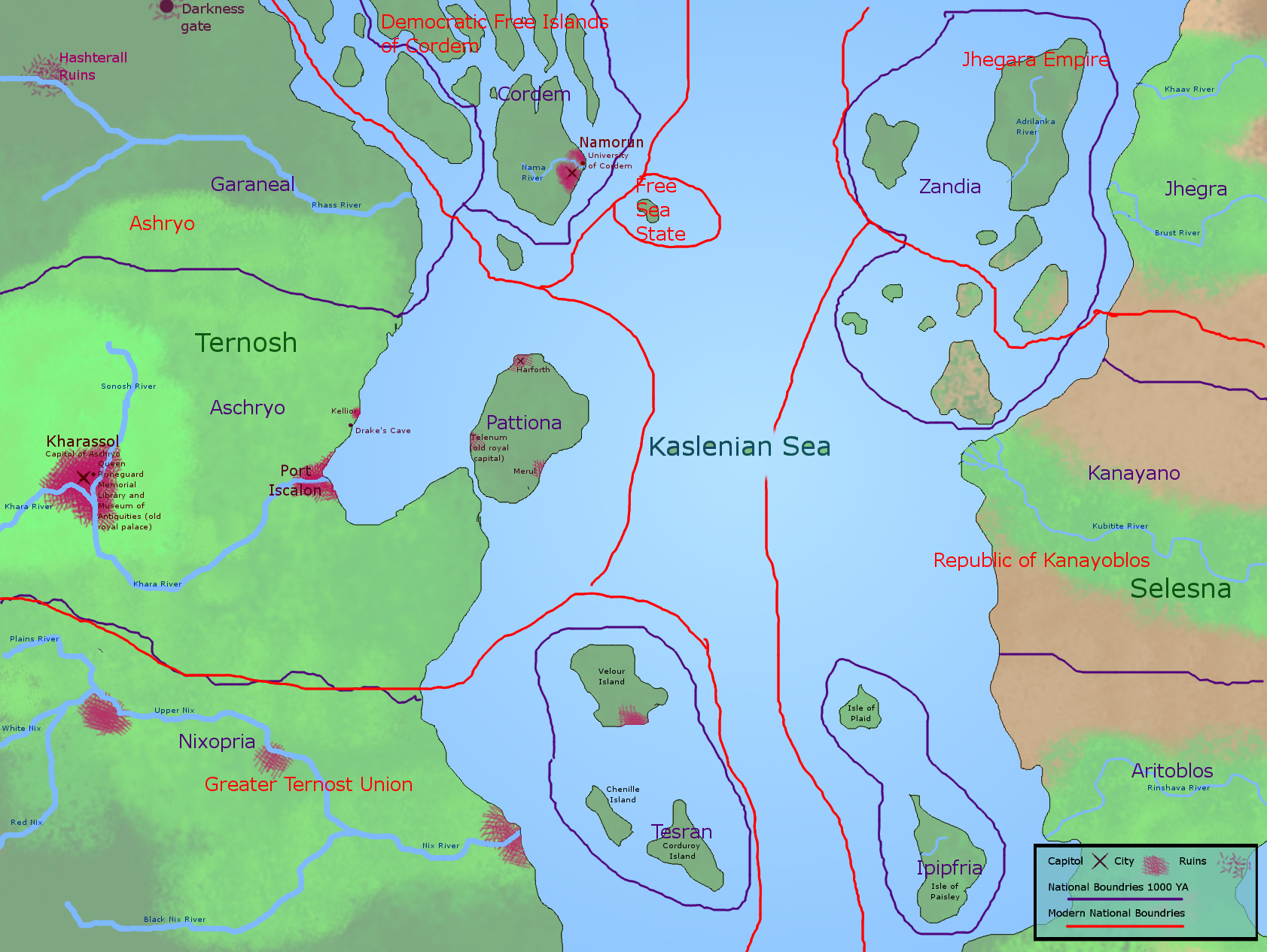 Map of Kaslenian Sea Region V2 by persephone-the-fish