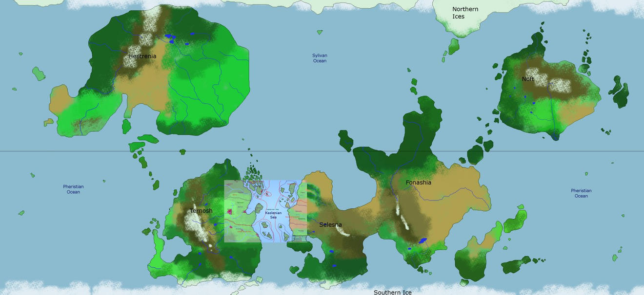 World map for the comic by persephone-the-fish