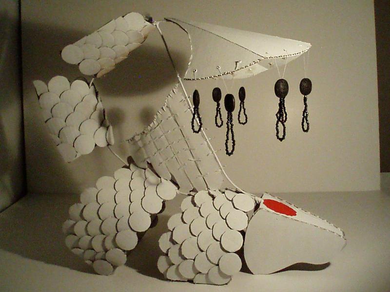 cardboard koi by YamiCazi