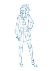 Full body sketch by OVjanelle