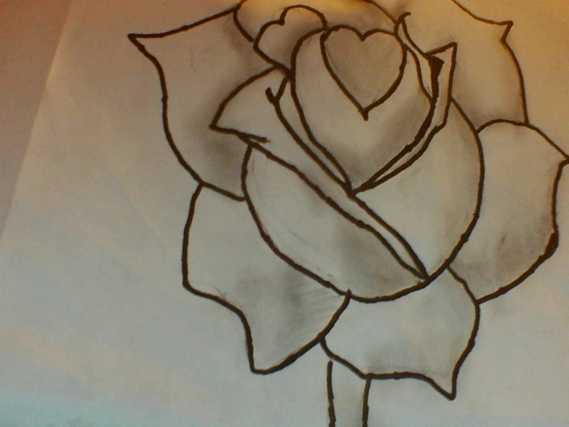 Simple Rose Drawing By Iluvalistair On DeviantArt