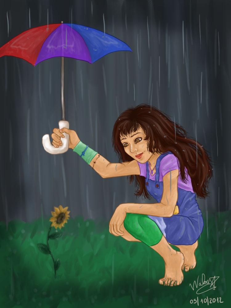 Ocarina and the sunflower by purple-walou
