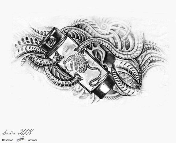 Biomechanical Tattoo Line Drawing : Biomechanical facehugger by bloodlust on deviantart
