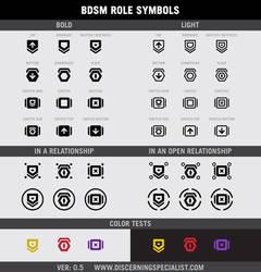 DSG BDSM ROLE SYMBOLS ver 0.5