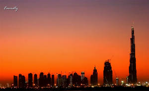 burj dubai sunset by Emiraty