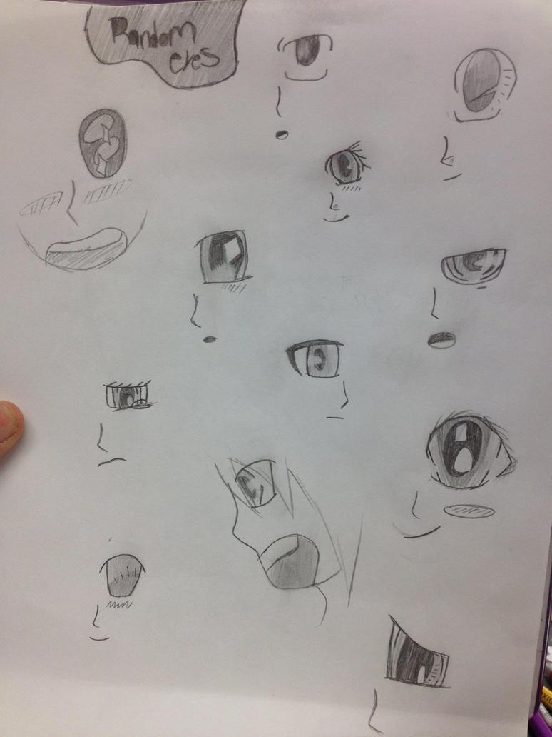 Some random eyes by Unknowndemon626