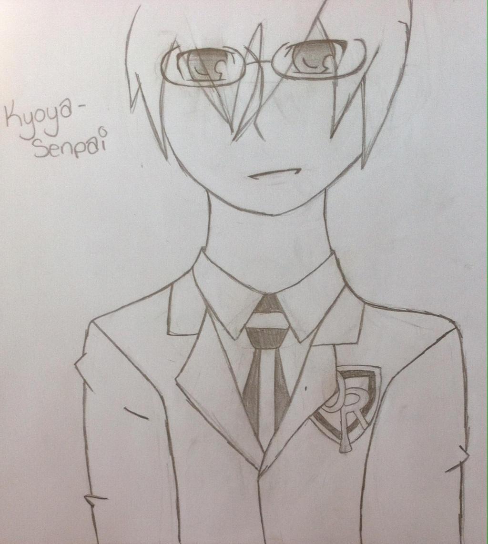 Kyoya senpai by Unknowndemon626