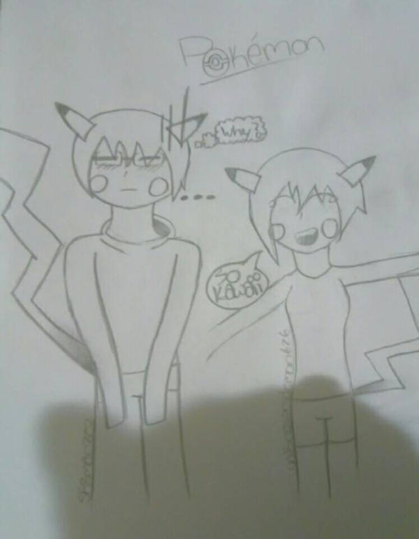 Me and my BF as pikachus! {Sk8man202 request} by Unknowndemon626