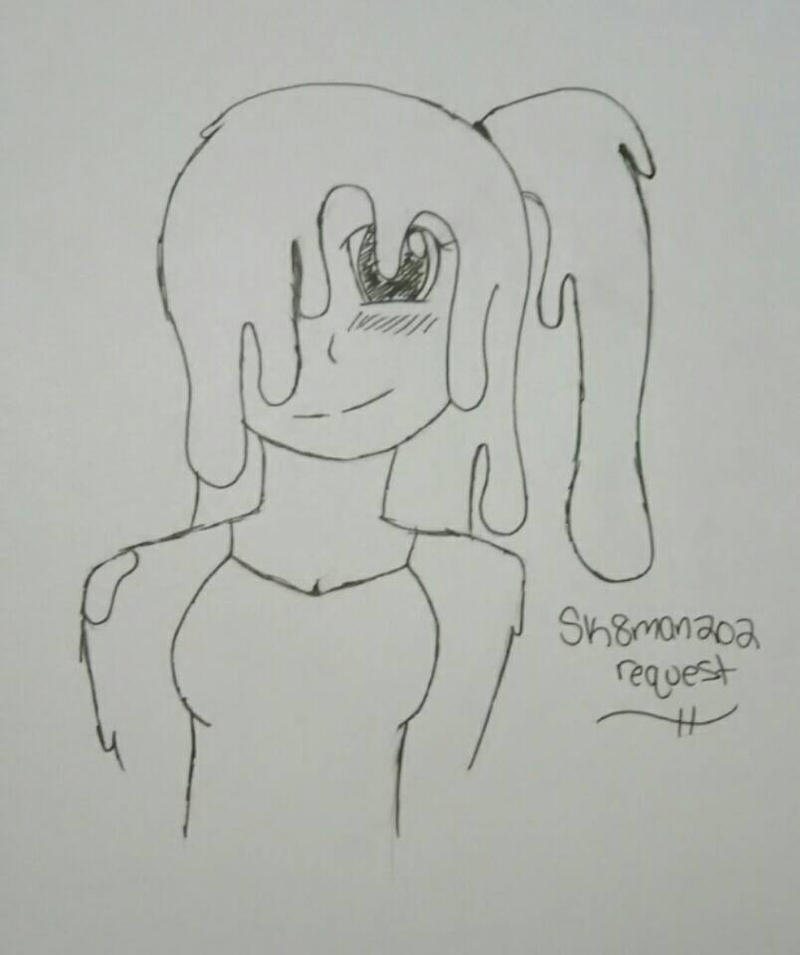 Slime girl {Sk8man202 request} by Unknowndemon626