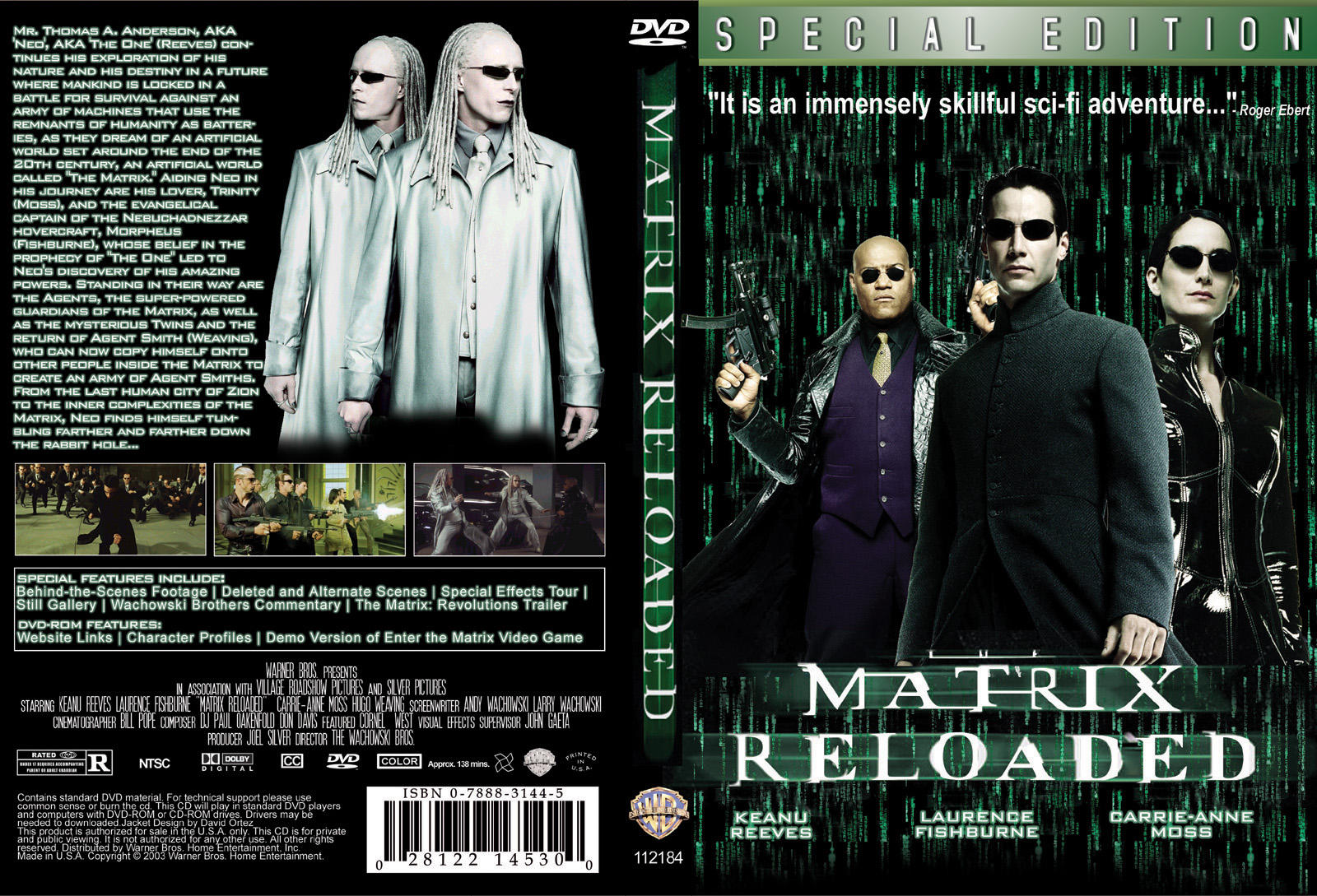 a review of the film the matrix Summary: the matrix was a pathbreaking film, marking the start of a new era in hollywood few reviews do it justice, usually ignoring the philosophy underlying the story.