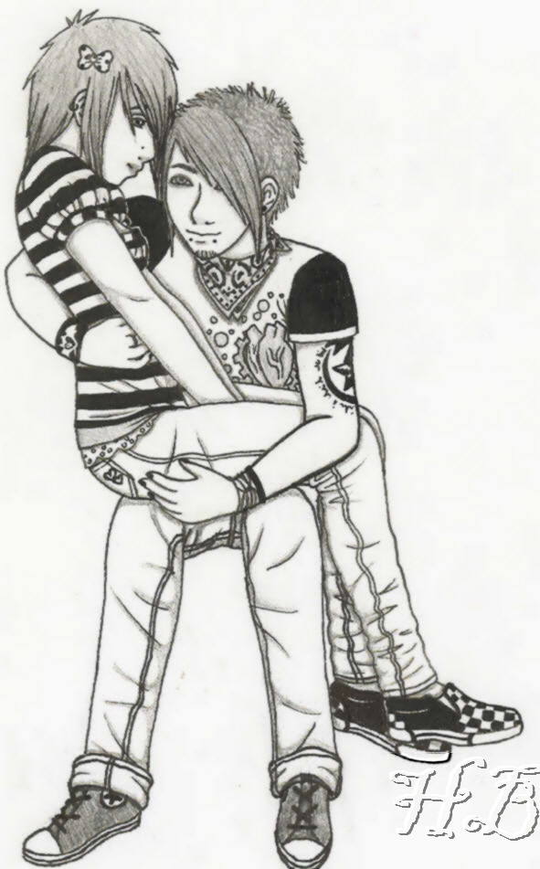 emo couple coloring pages - tumblr dope coloring coloring pages
