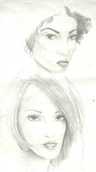 women pencil sketch3 by indian-prophet