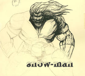 Snow-Man pencil sketch6 by indian-prophet