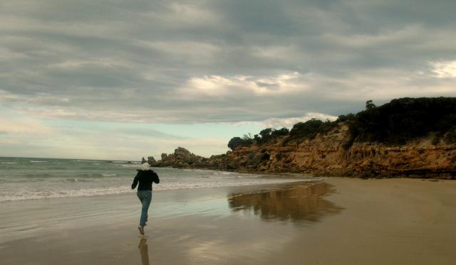 A Beach Jog by yayaschmaya